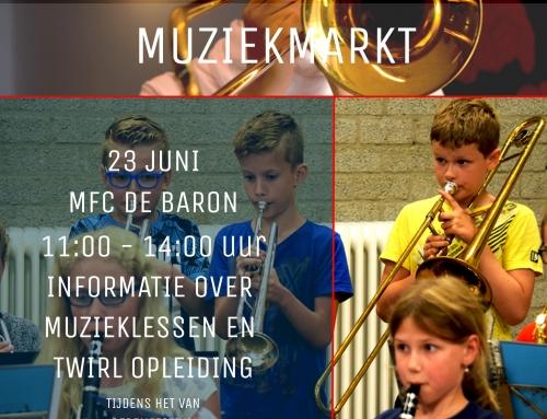 Muziekmarkt 23 juni 2018