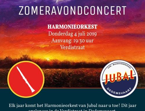 Zomeravondconcert Harmonieorkest op 4 juli a.s. om 19.30 uur