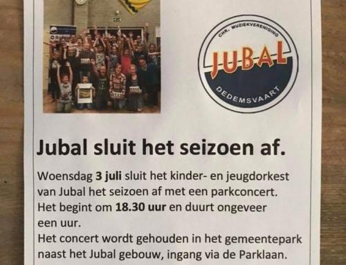 Parkconcert door de jeugd van Jubal